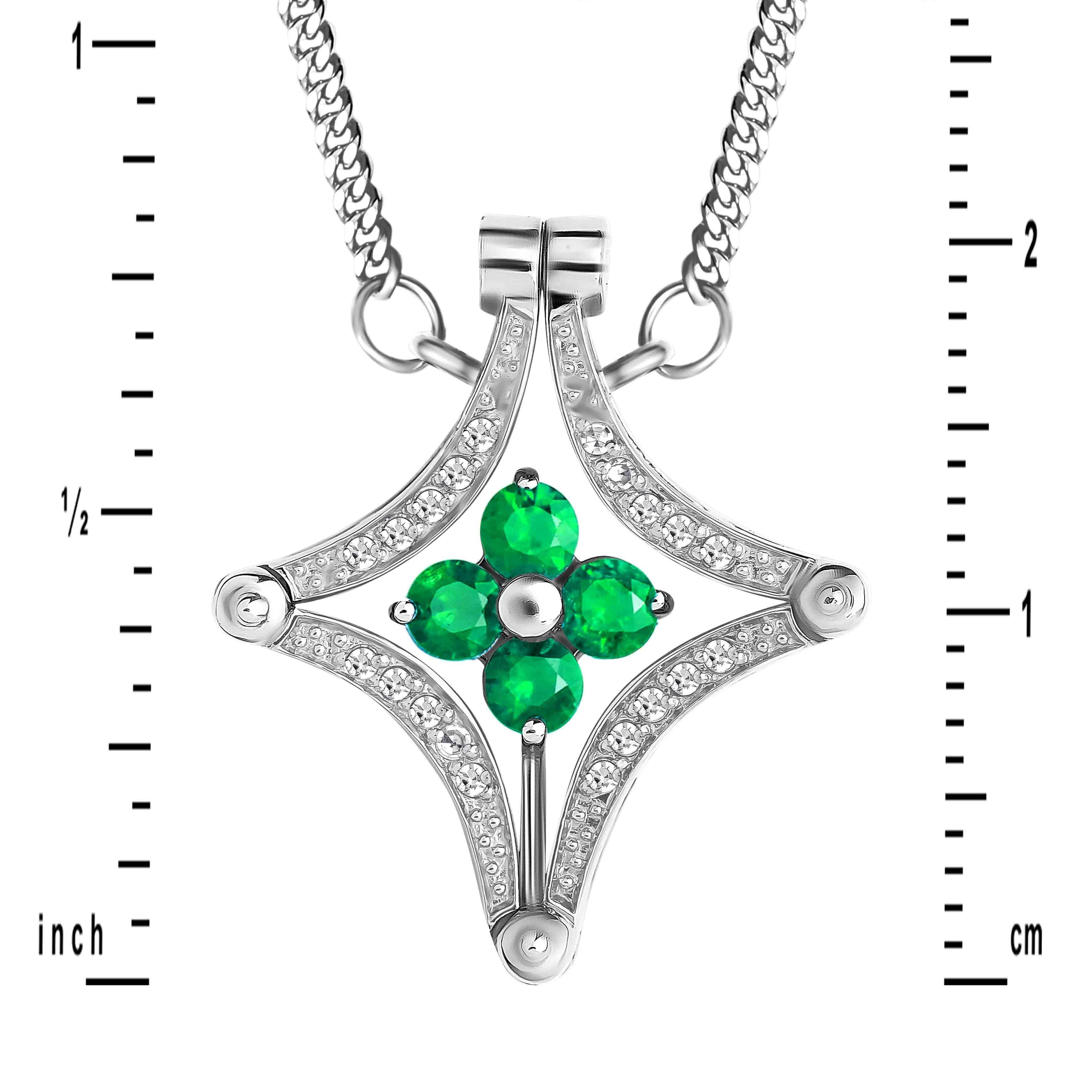 Emerald and Diamond Convertible Necklace
