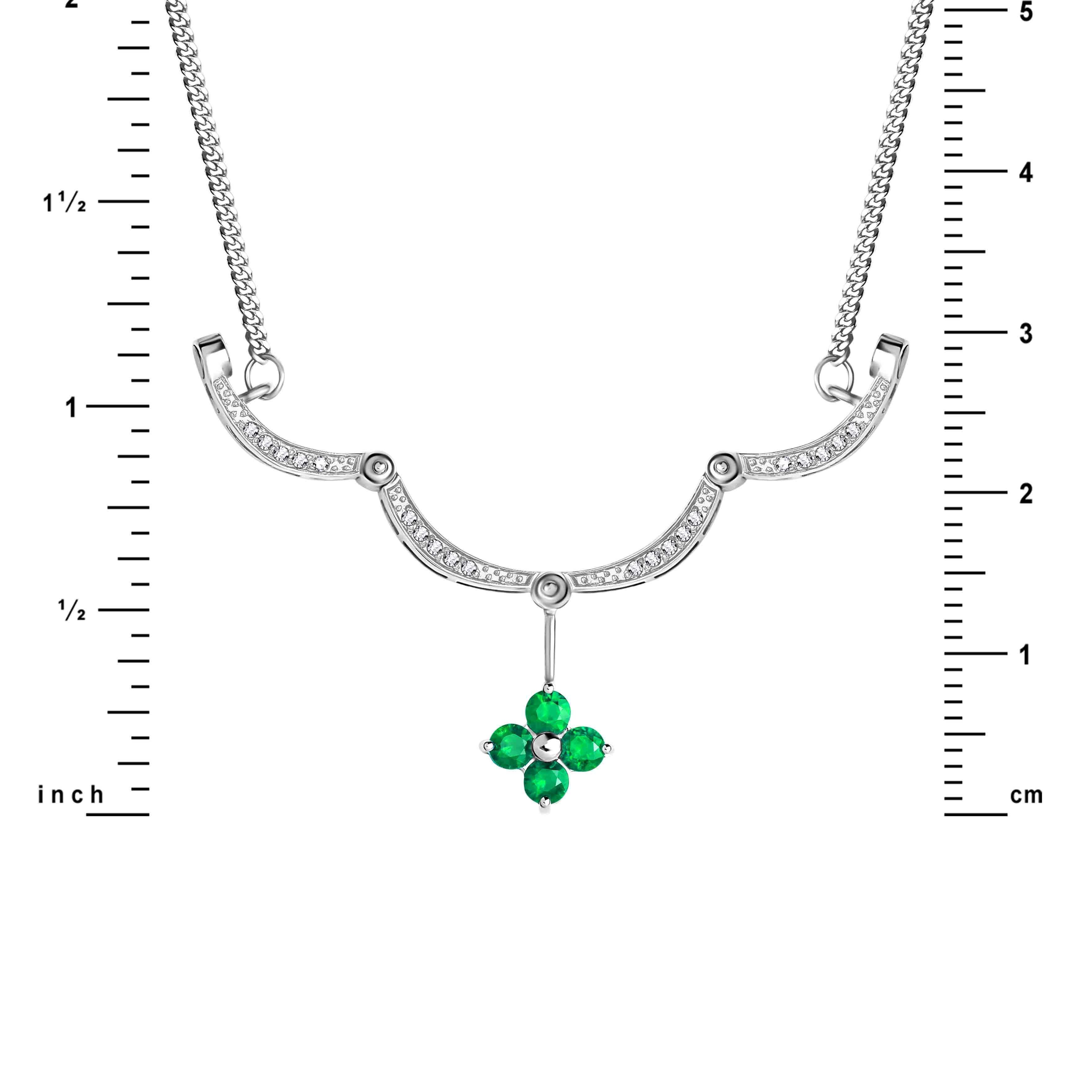 Emerald Diamond Necklace view 3