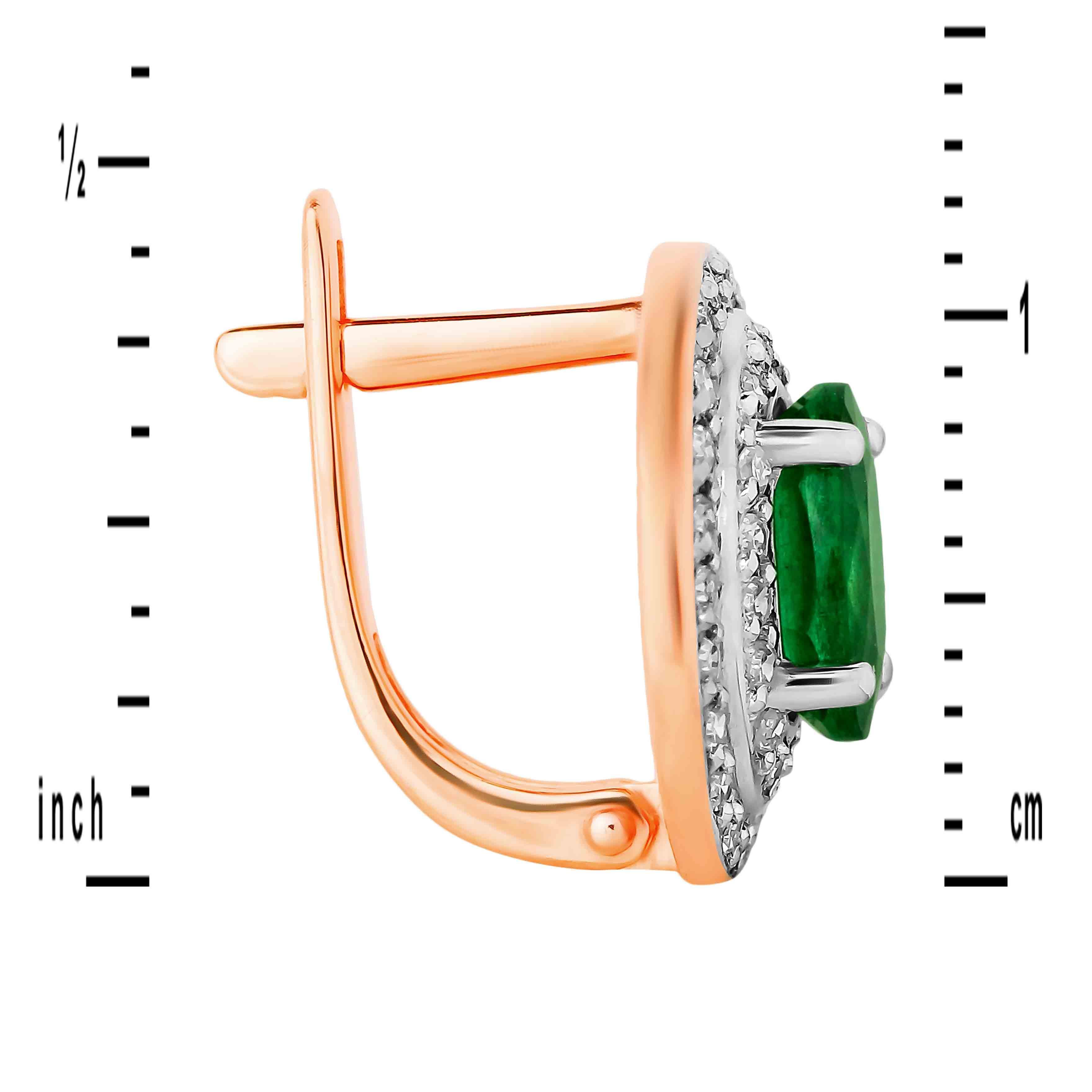 Estate Diamond Jewelry Russian Emerald Elliptical