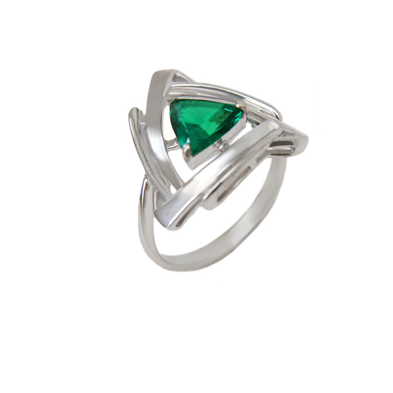 Emerald Russain silver ring 1