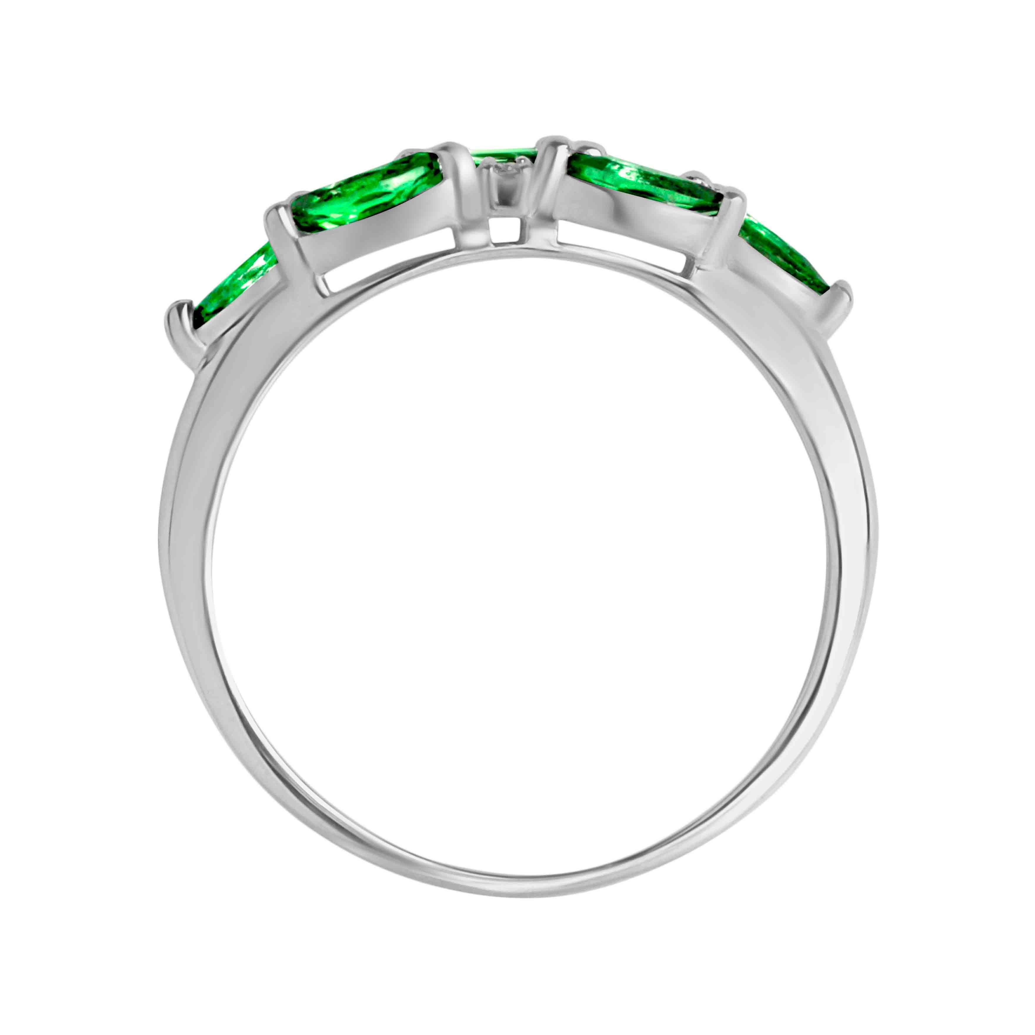 7 marquise emeralds  Russian ring. View 3