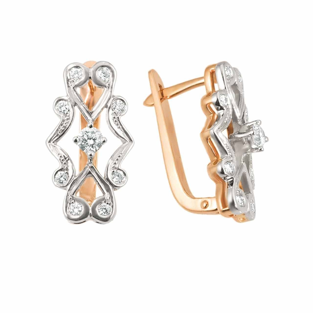 Faberge Epoch-Inspired Diamond Earrings