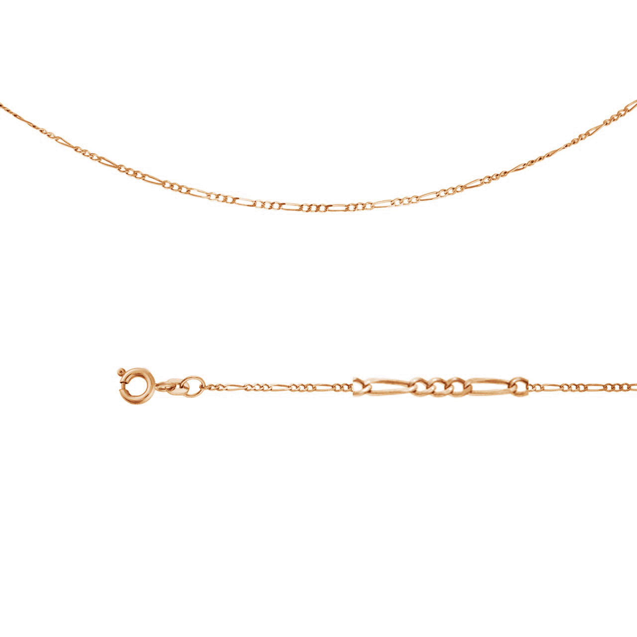 Figaro-link Chain (0.4 mm Gold Wire)