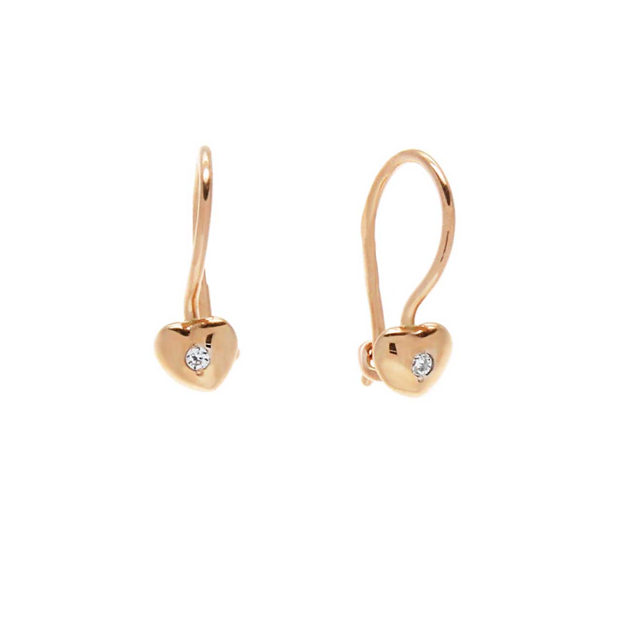 CZ Heart-shaped Kids' Earrings