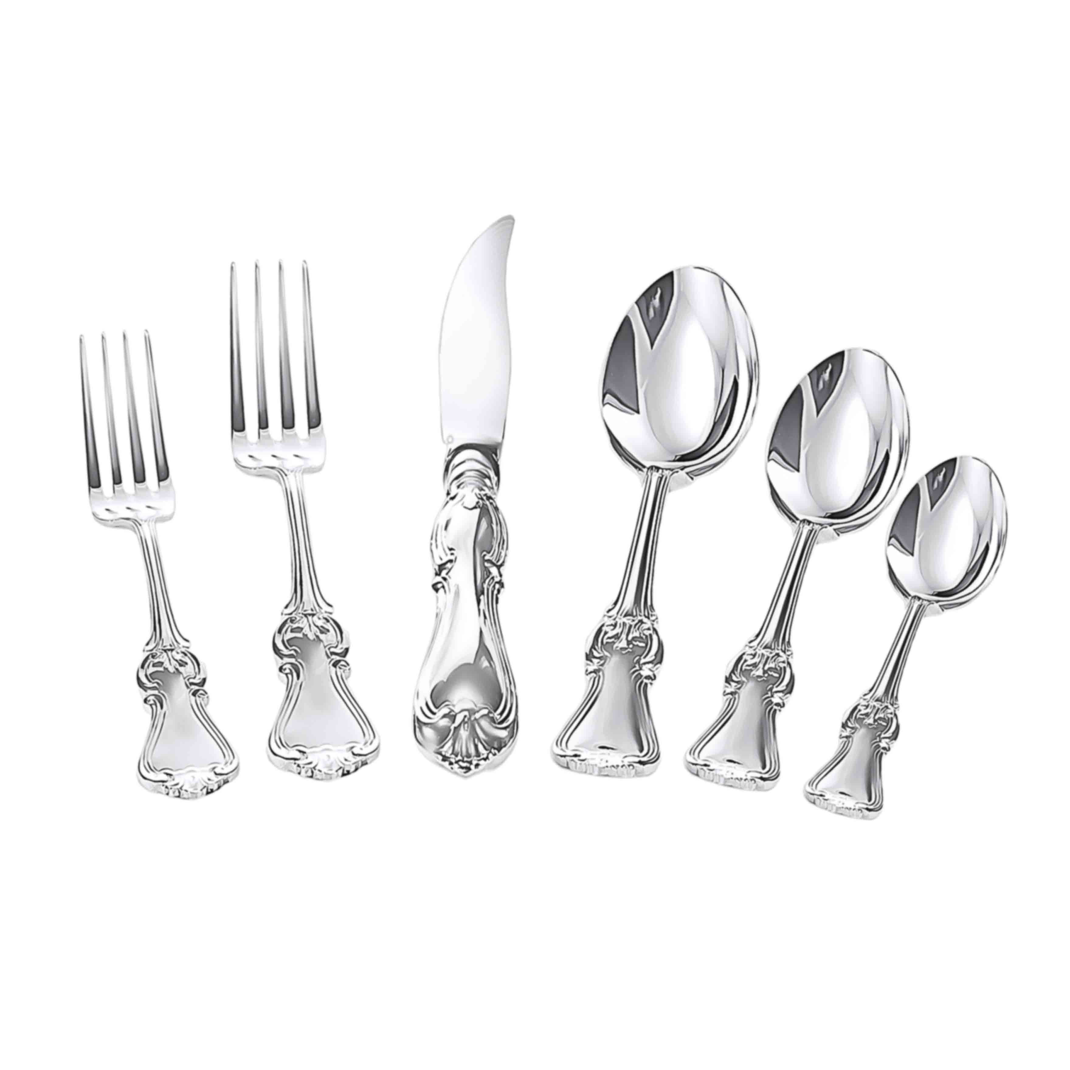 French Pattern Silver Set of 6. View 2