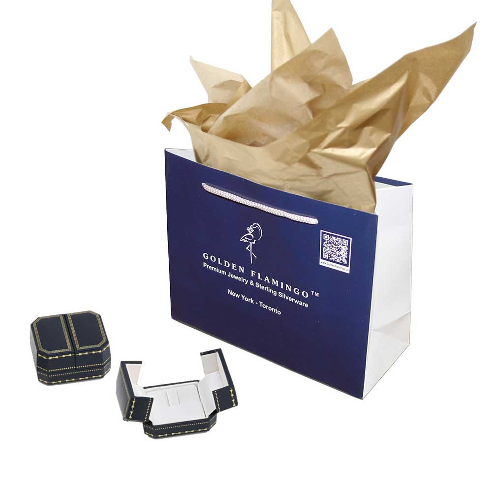 Cz rose and white gold ring 4