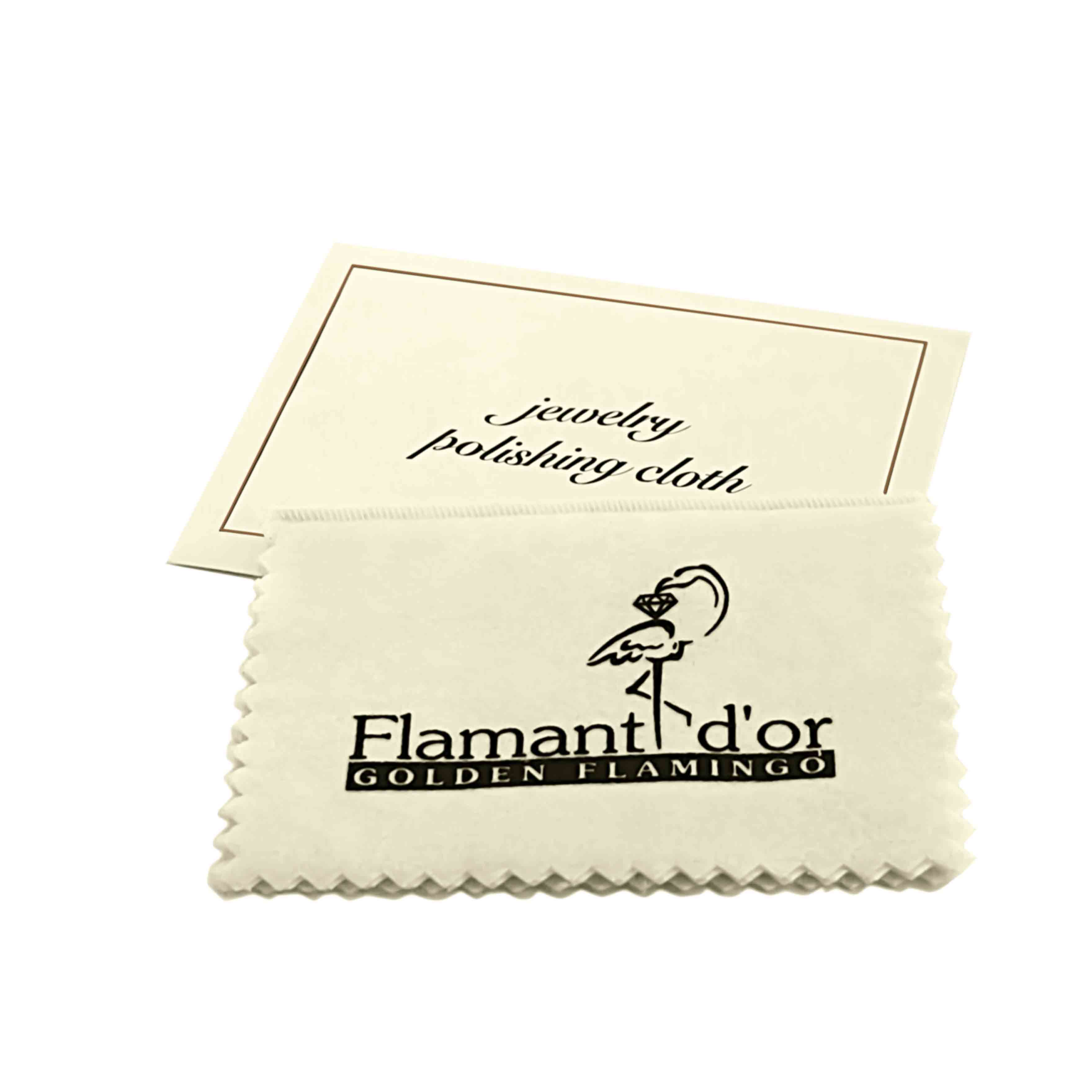 Gold and Silver Polishing Cloth with Envelope