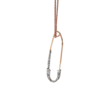 CZ Gold Safety Pin