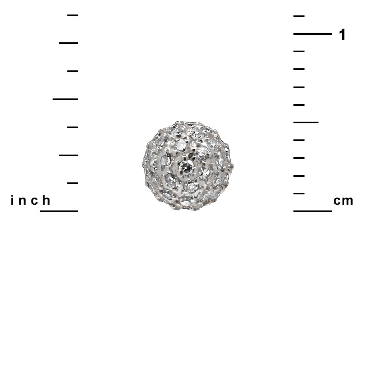 Diamond Dome Stud Earrings. View 2