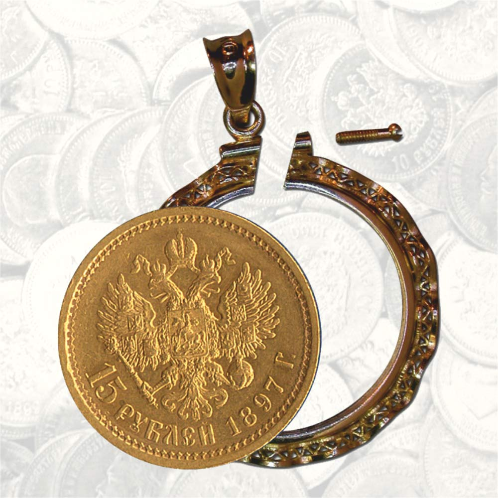 Bezel Fit Russian Gold 'Imperial' Coin