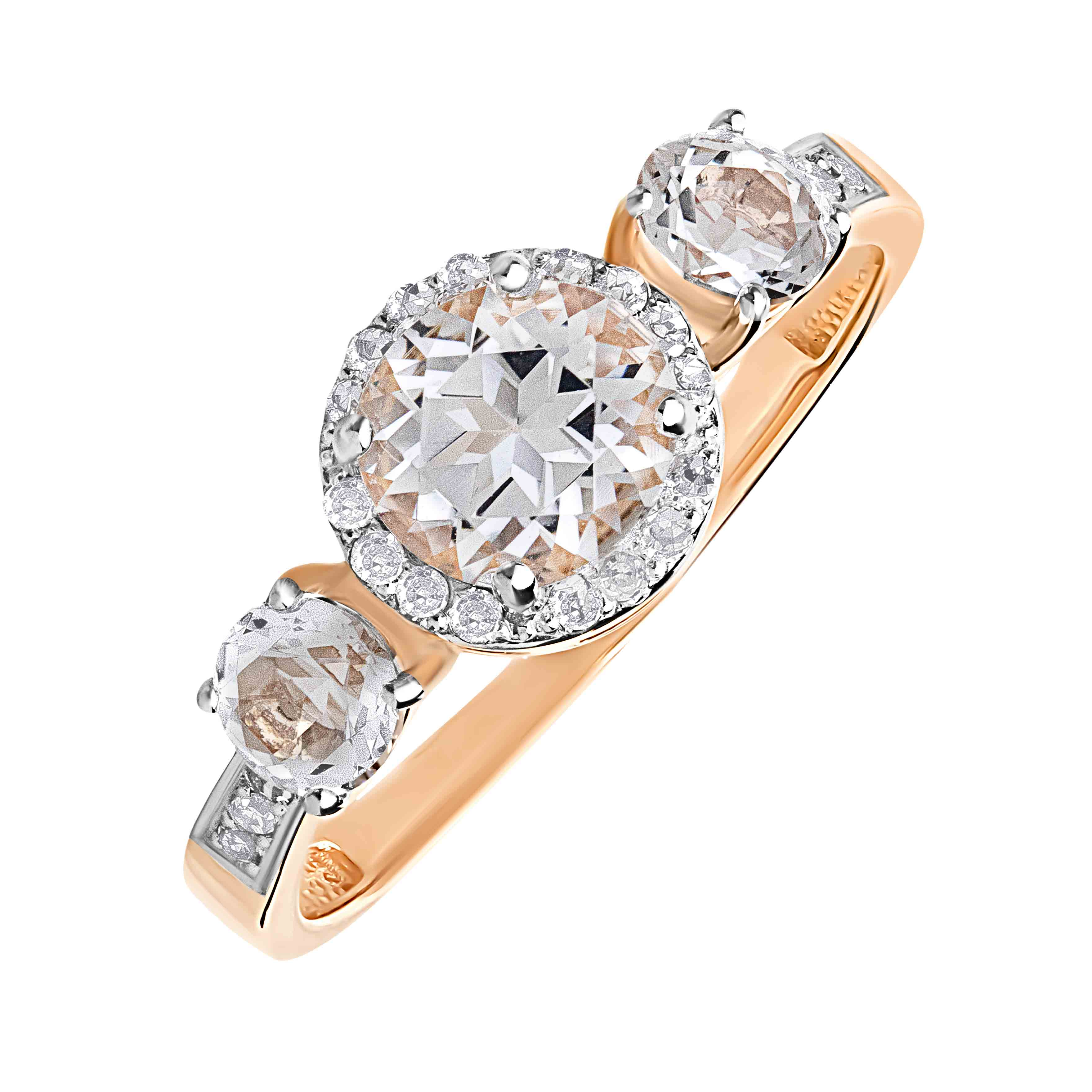"""Le Grande Amour"" Trinity Engagement Ring"