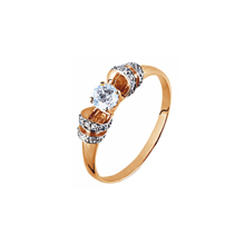 Hearts and Arrows CZ Rose Gold Ring