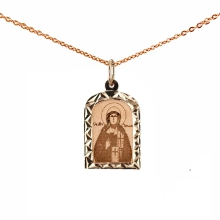 The Holy Martyr Tatiana. Diamond Cut Gold Body Icon