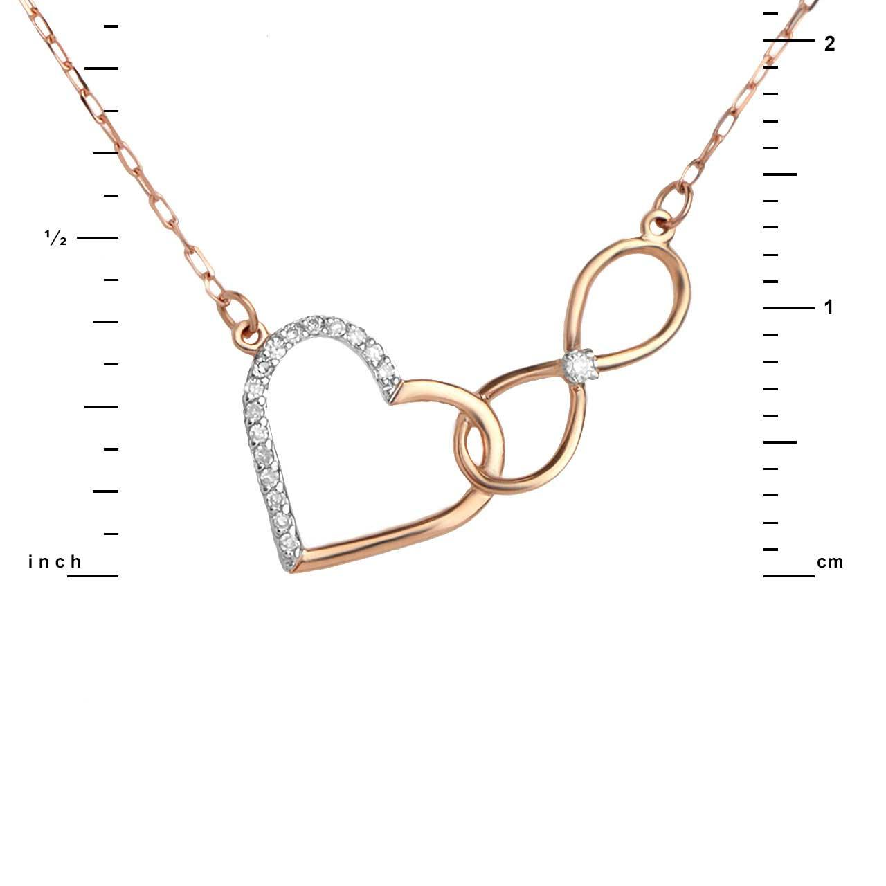 Diamond heart infinity necklace 3