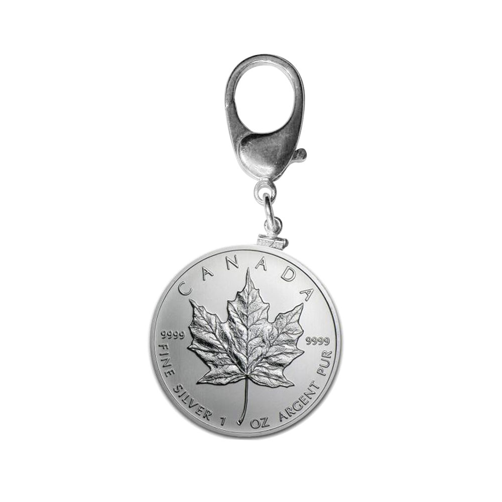 Silver Maple Leaf Key Ring