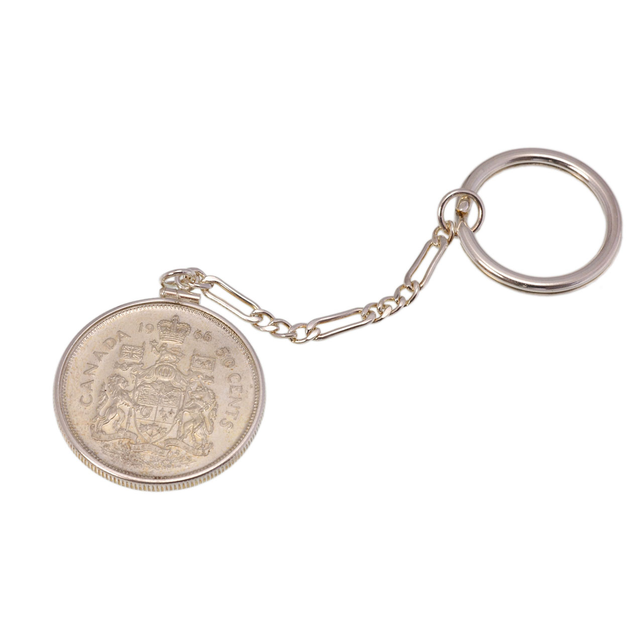 Key chain with Canadian silver coin 1