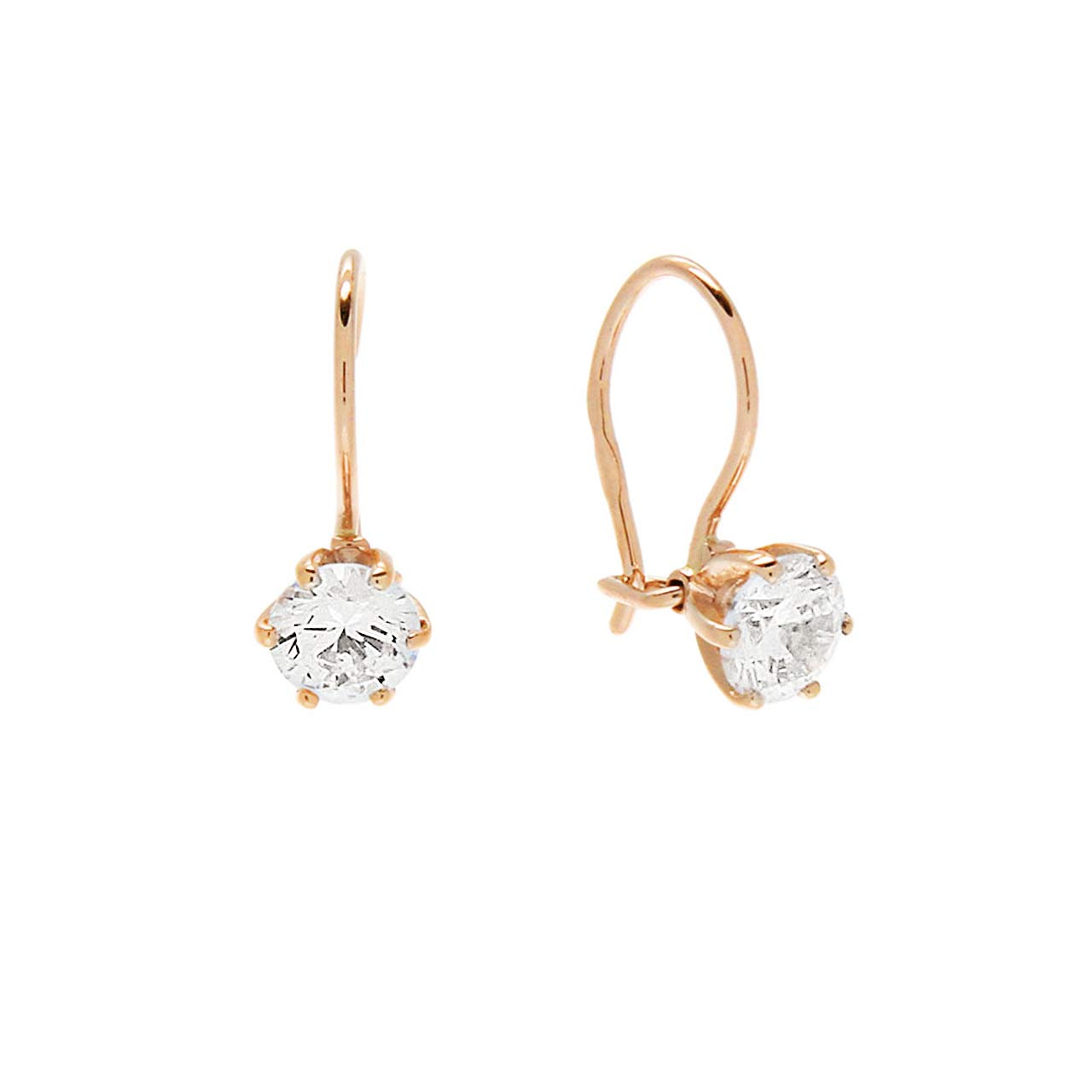 5 mm CZ Solitaire Kids Earrings