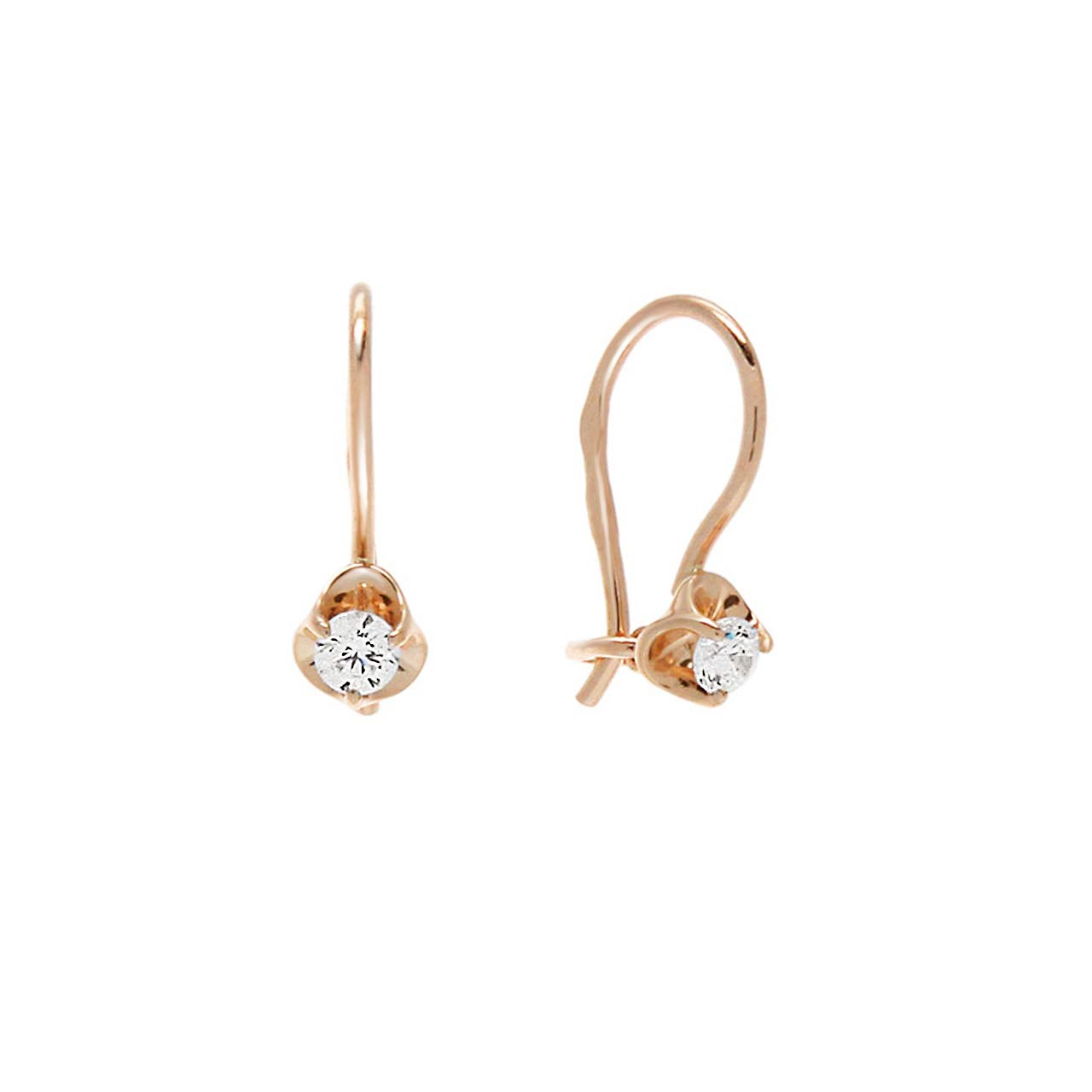 CZ Rosebud Earrings