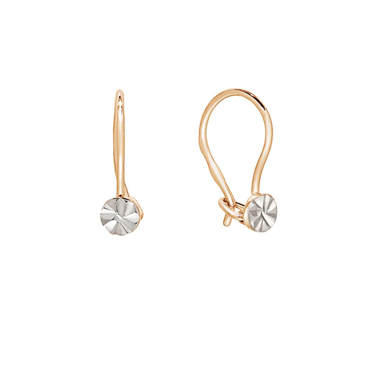 Diamond Cut Gold Circle Kids Earrings