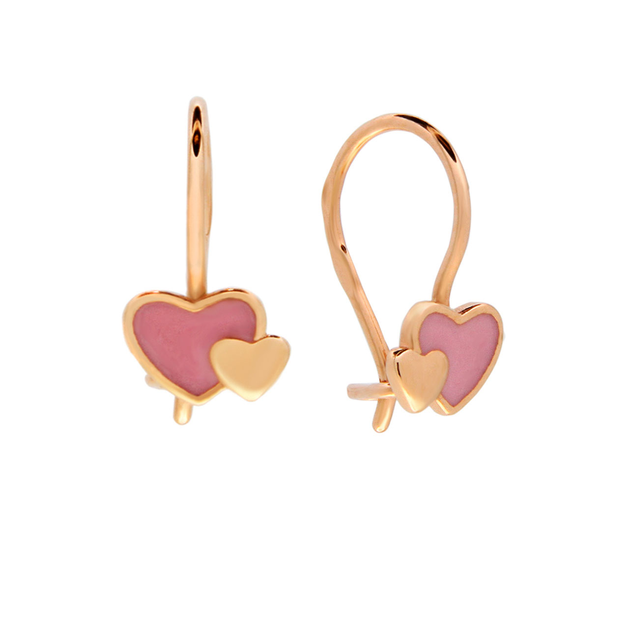 Hypoallergenic gold kids earrings 1