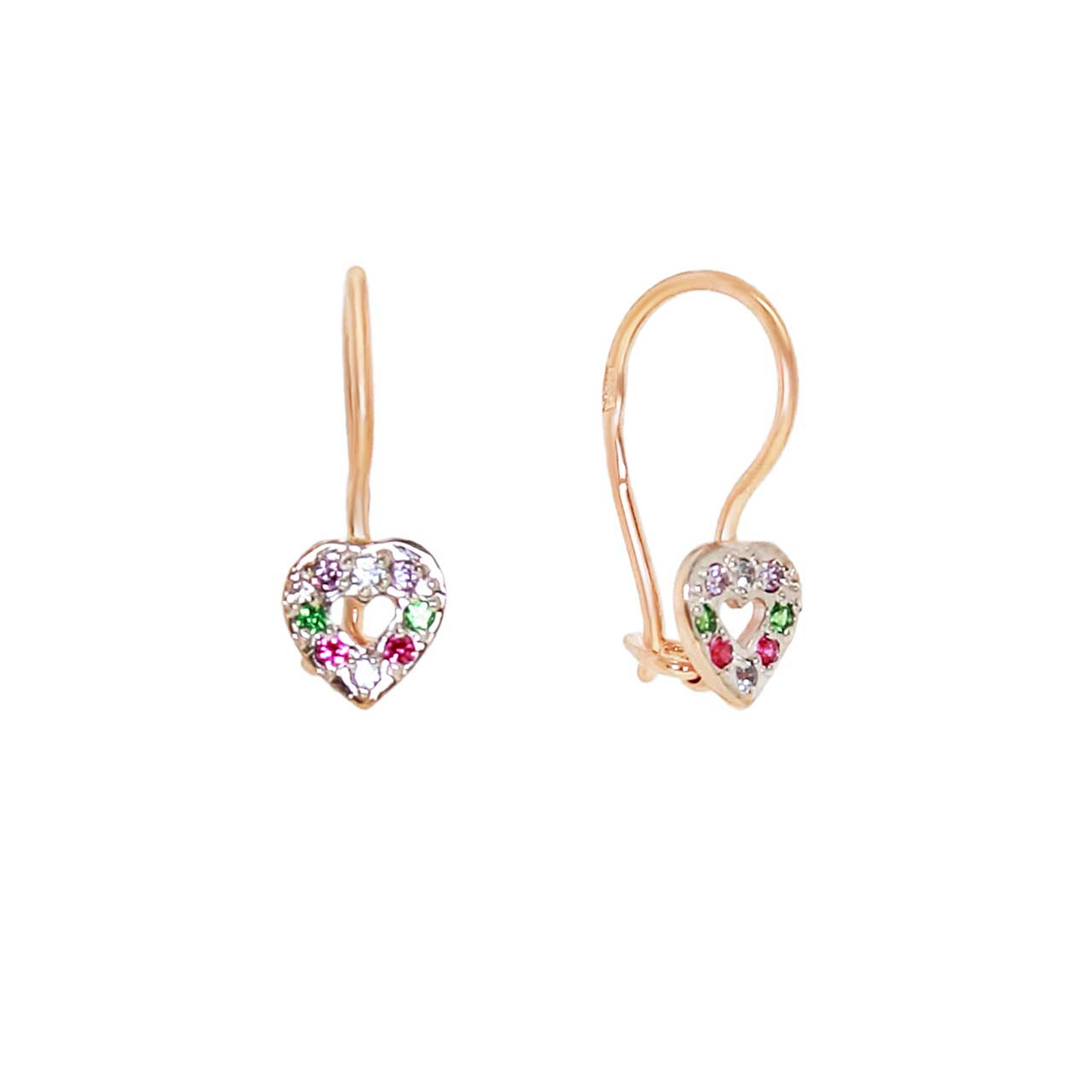 Heart Shaped Children Earrings