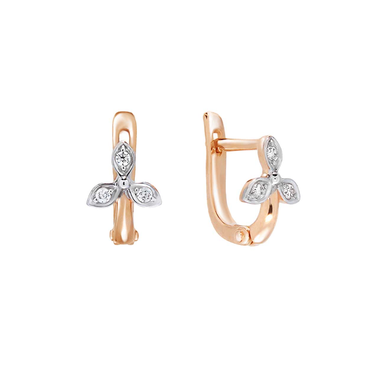 Clover Motif Kids Earrings