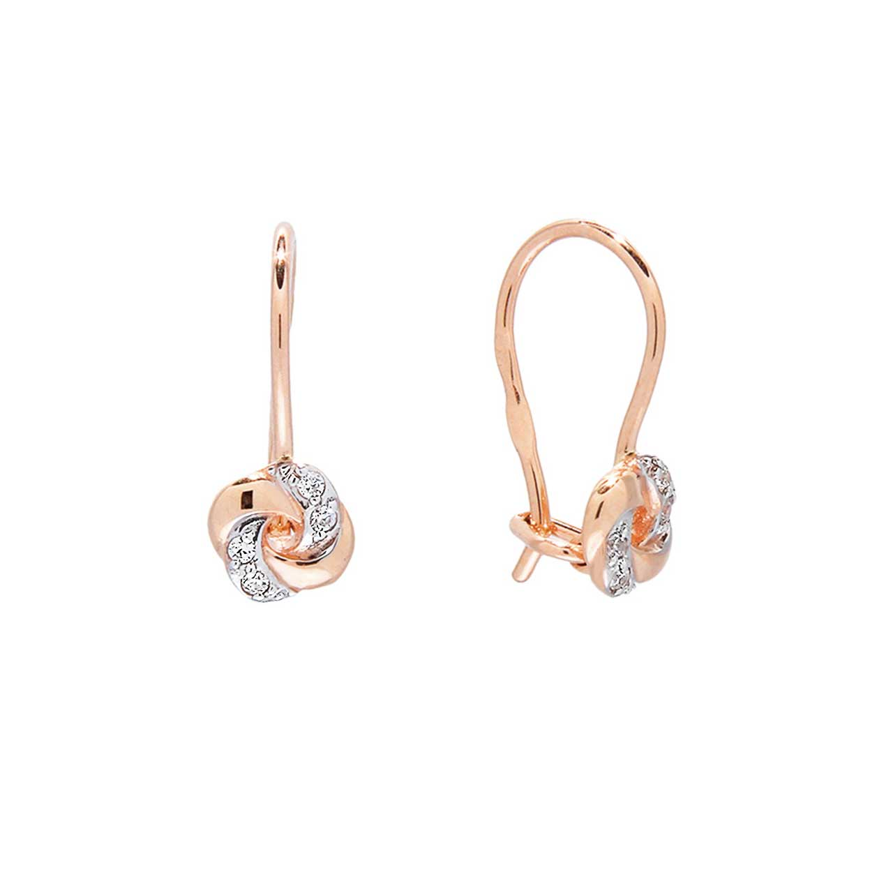 CZ Rose Gold Kids  Earrings