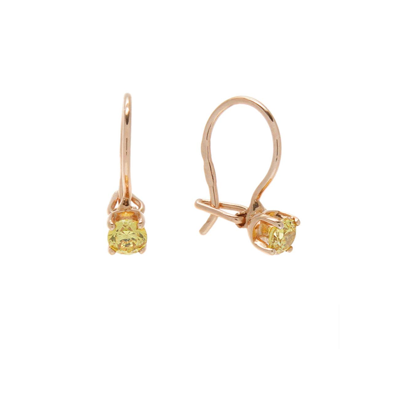 Citrine-Color CZ Earrings
