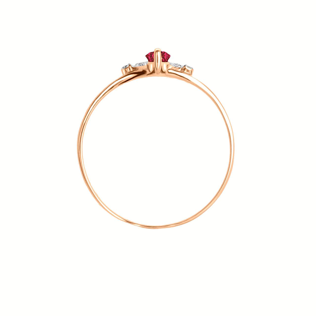 Marquise ruby rose gold ring 3