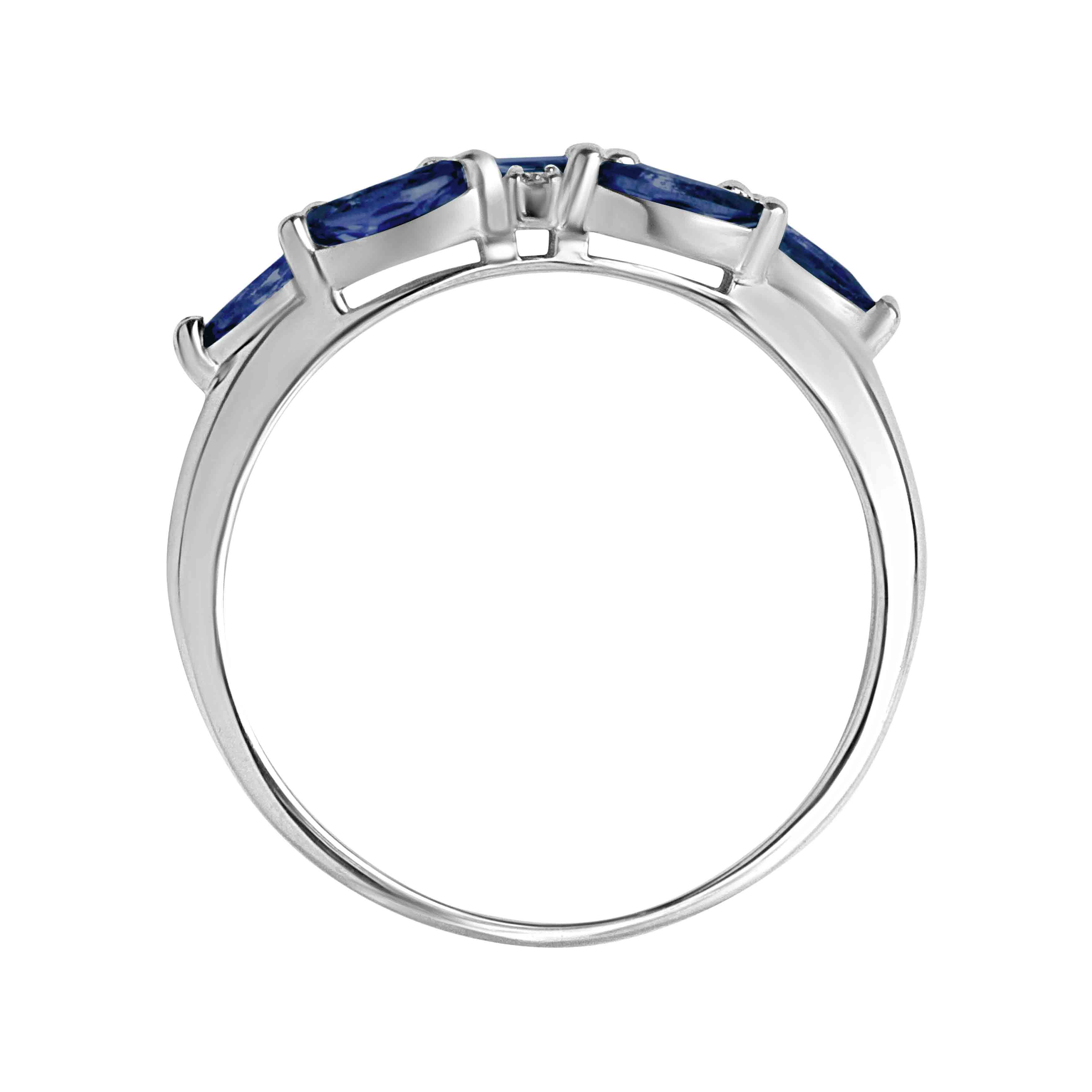 7 marquise sapphires  Russian ring. View 3