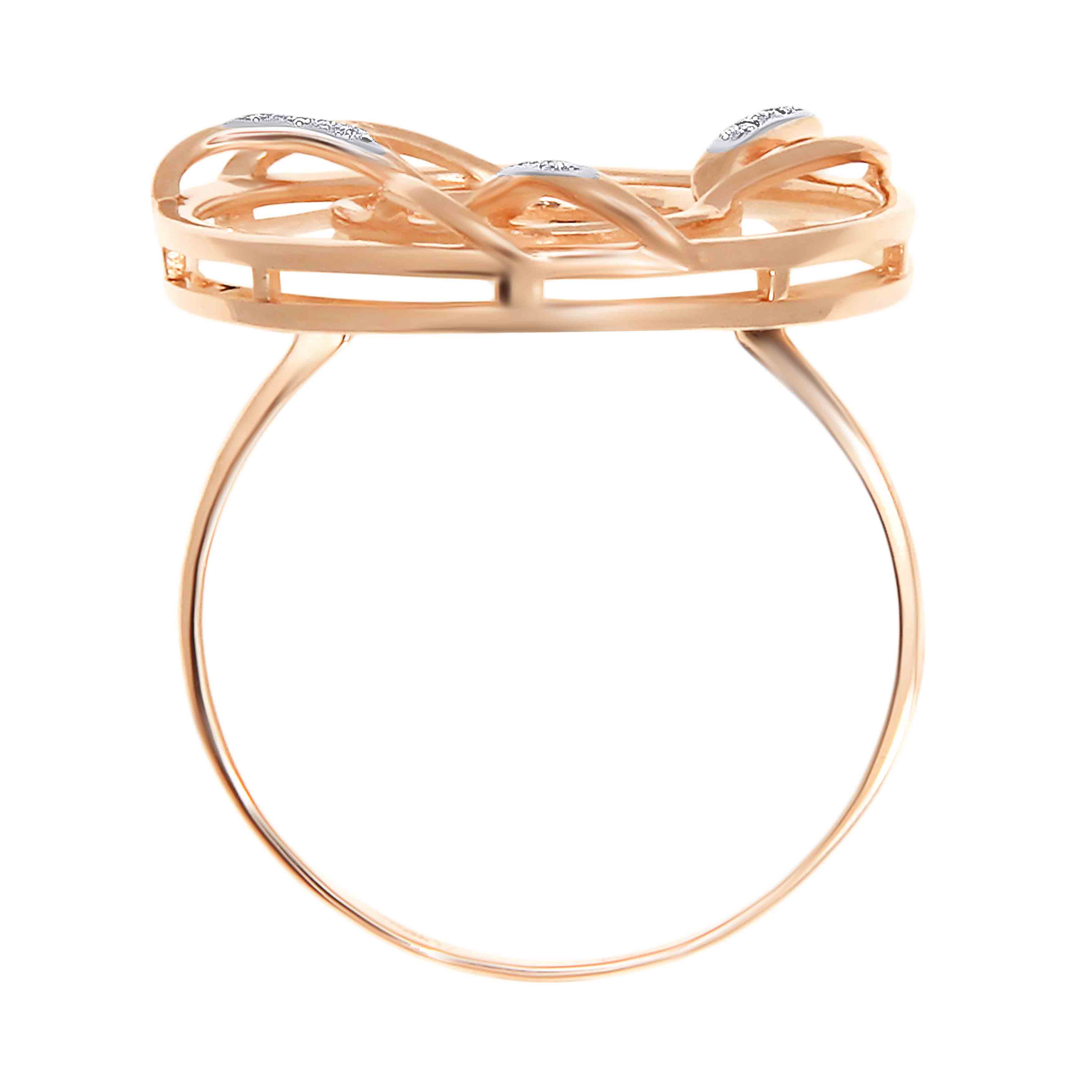 Mother-of-Pearl Rose Gold Ring. View 4