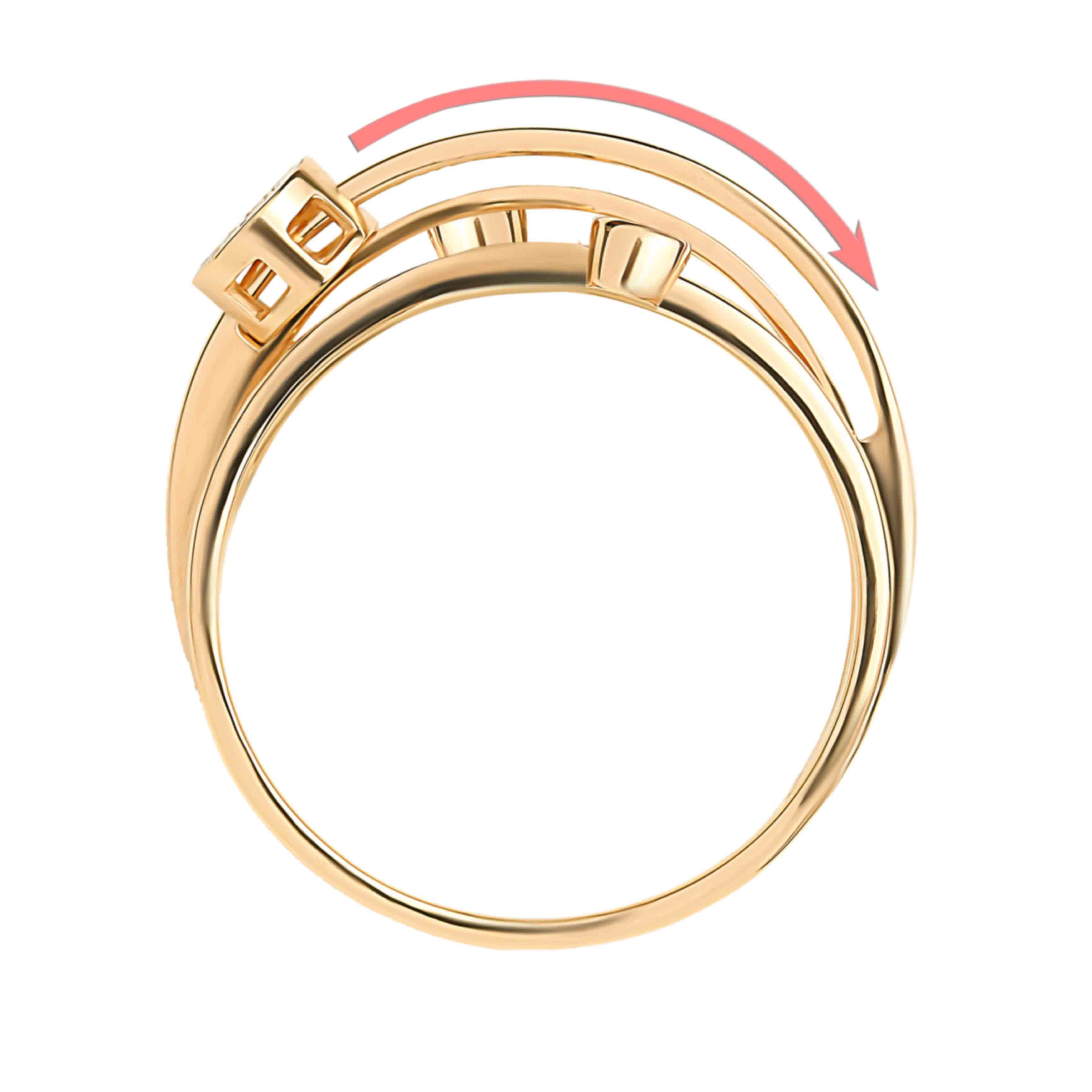 Movable CZ Rose Gold Ring. View 4