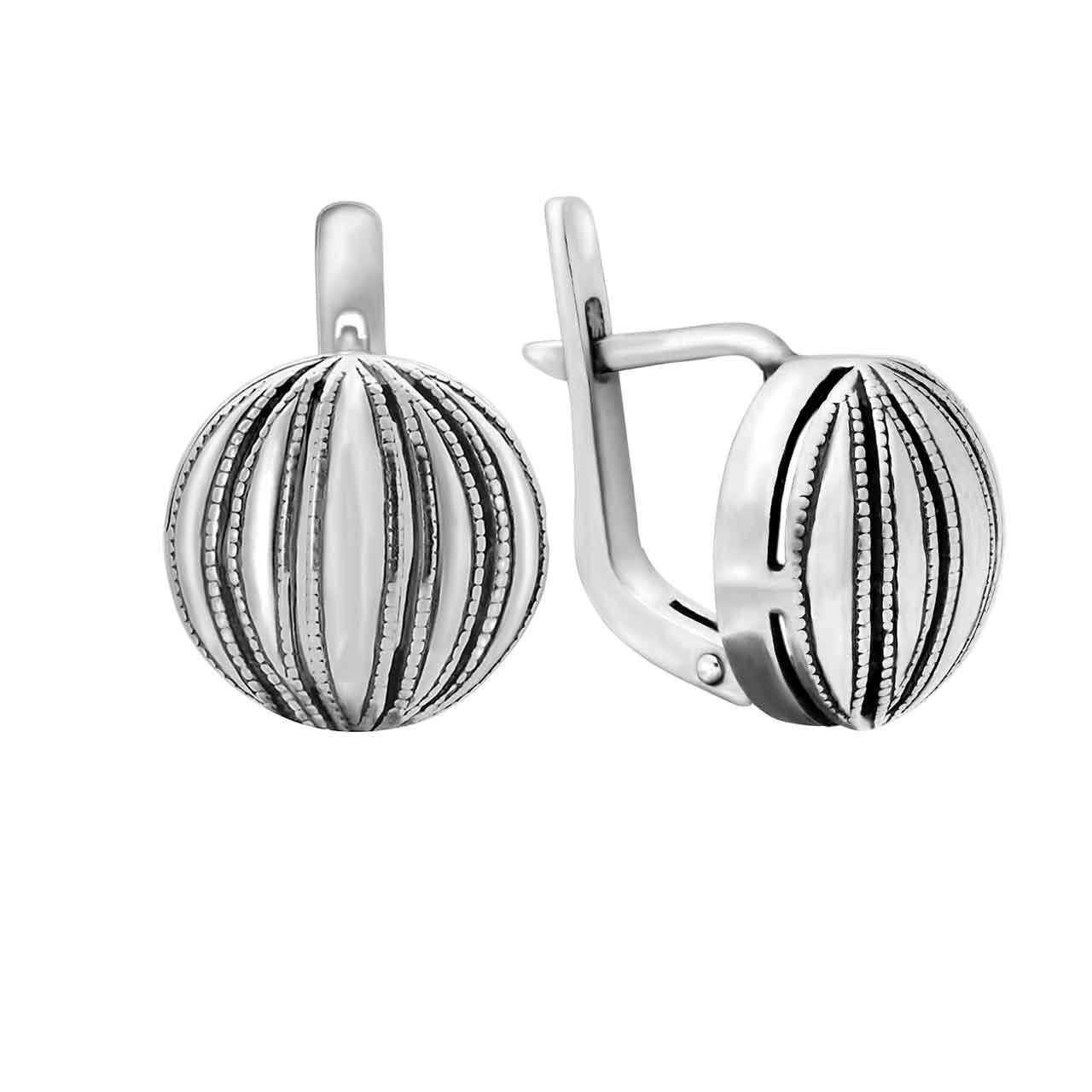 Niello silver earrings 1