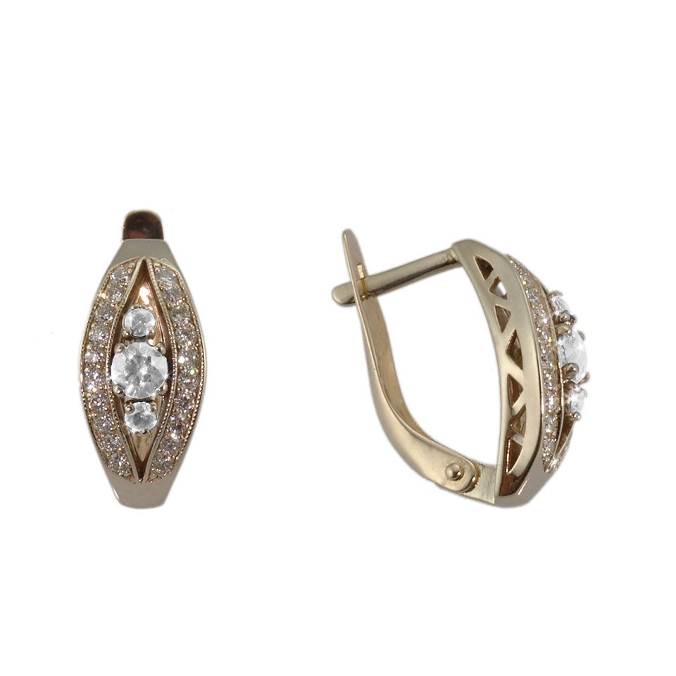 'Queen and Court' Diamond Earrings