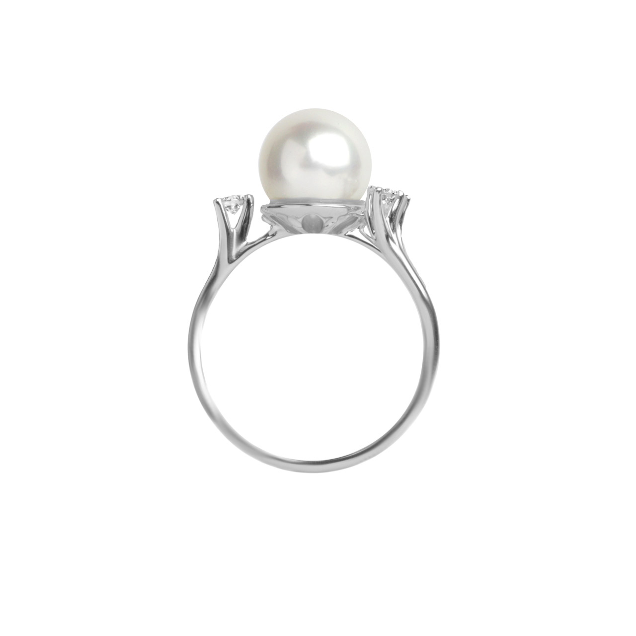 Pearl ring 18K white gold 3