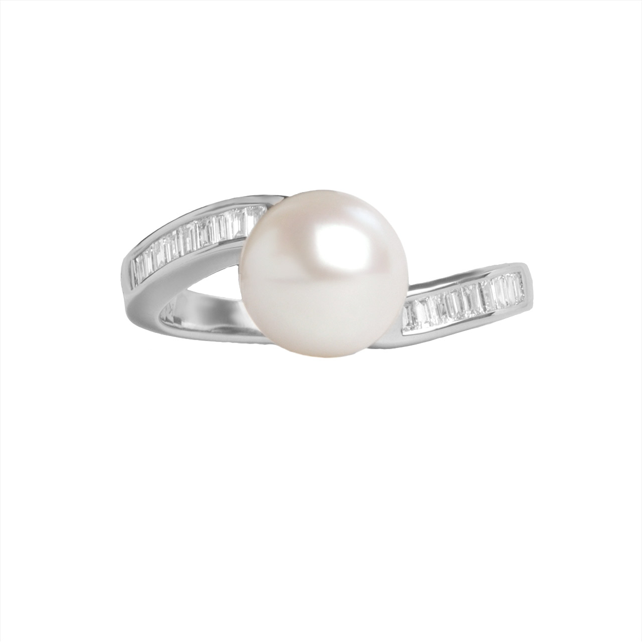 750 white gold pearl ring 3