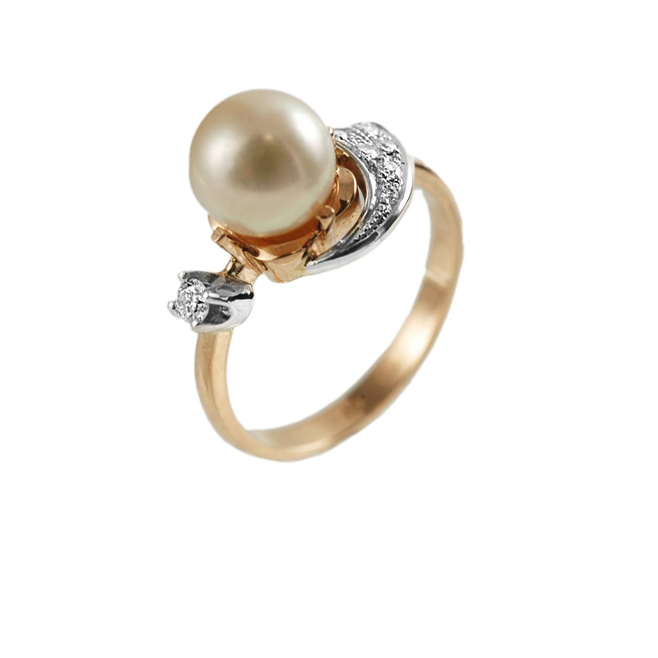 Art Deco pearl and diamond ring 1