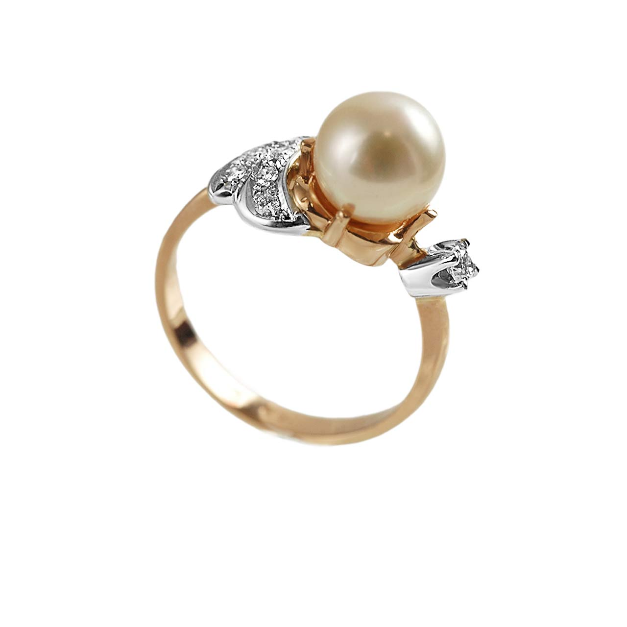 Art Deco pearl and diamond ring 2