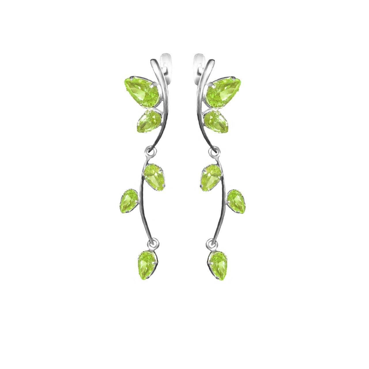 Peridot dangle earrings 1