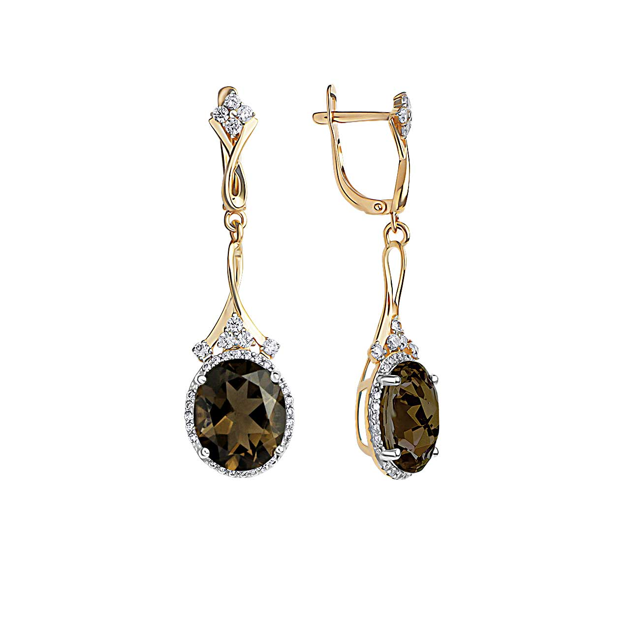 Rauh Topaz and CZ Cocktail Earrings