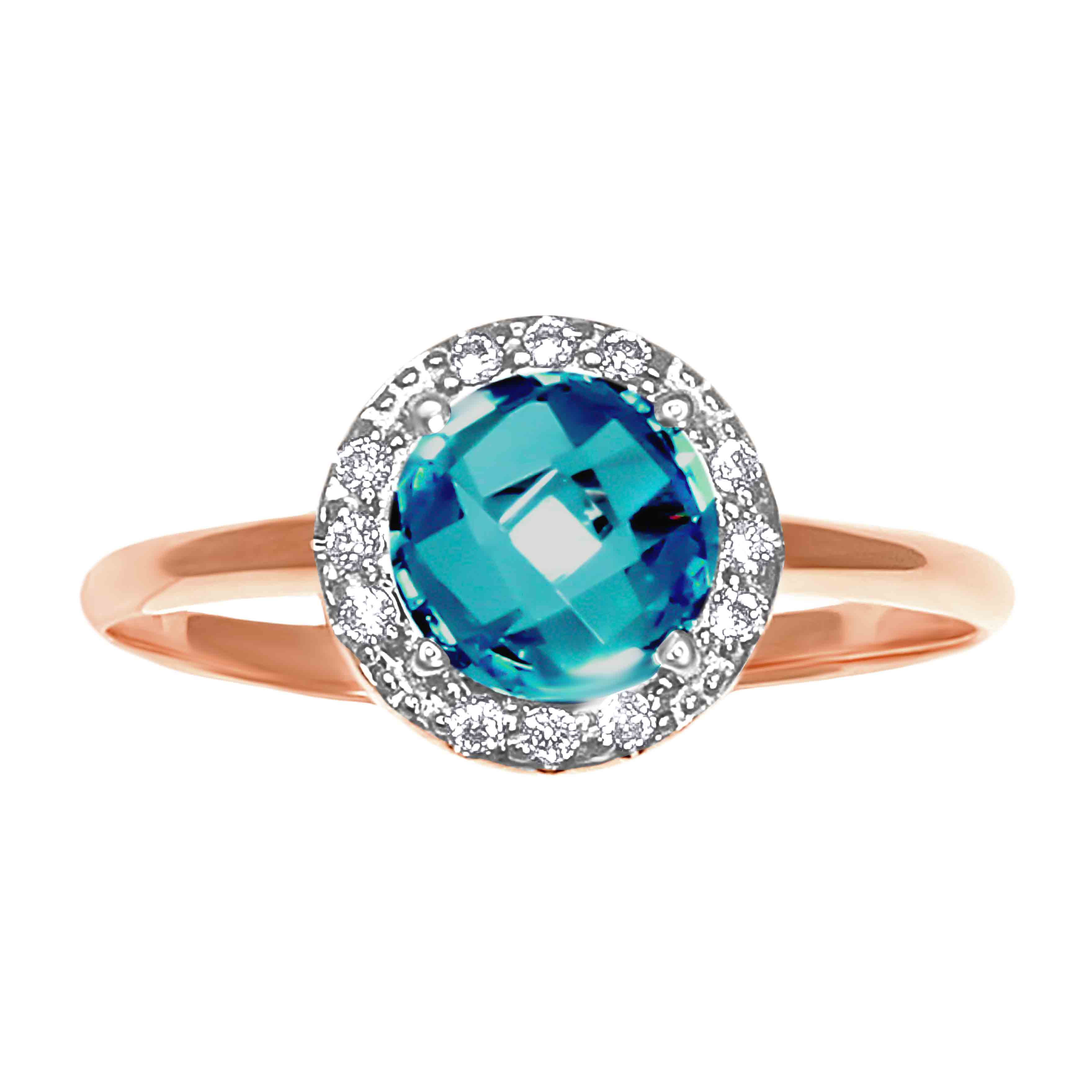 Fancy Cut Blue Topaz Ring. View 2