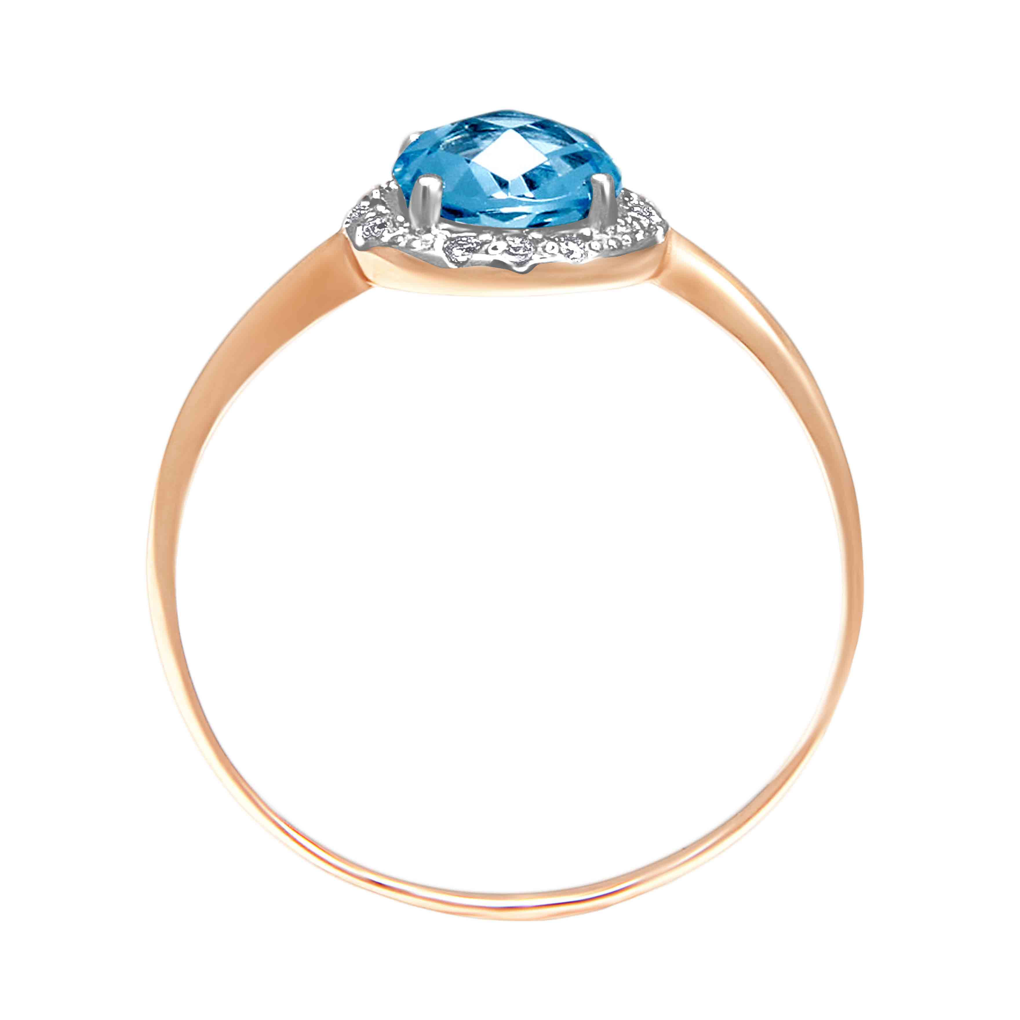 Fancy Cut Blue Topaz Ring. View 3