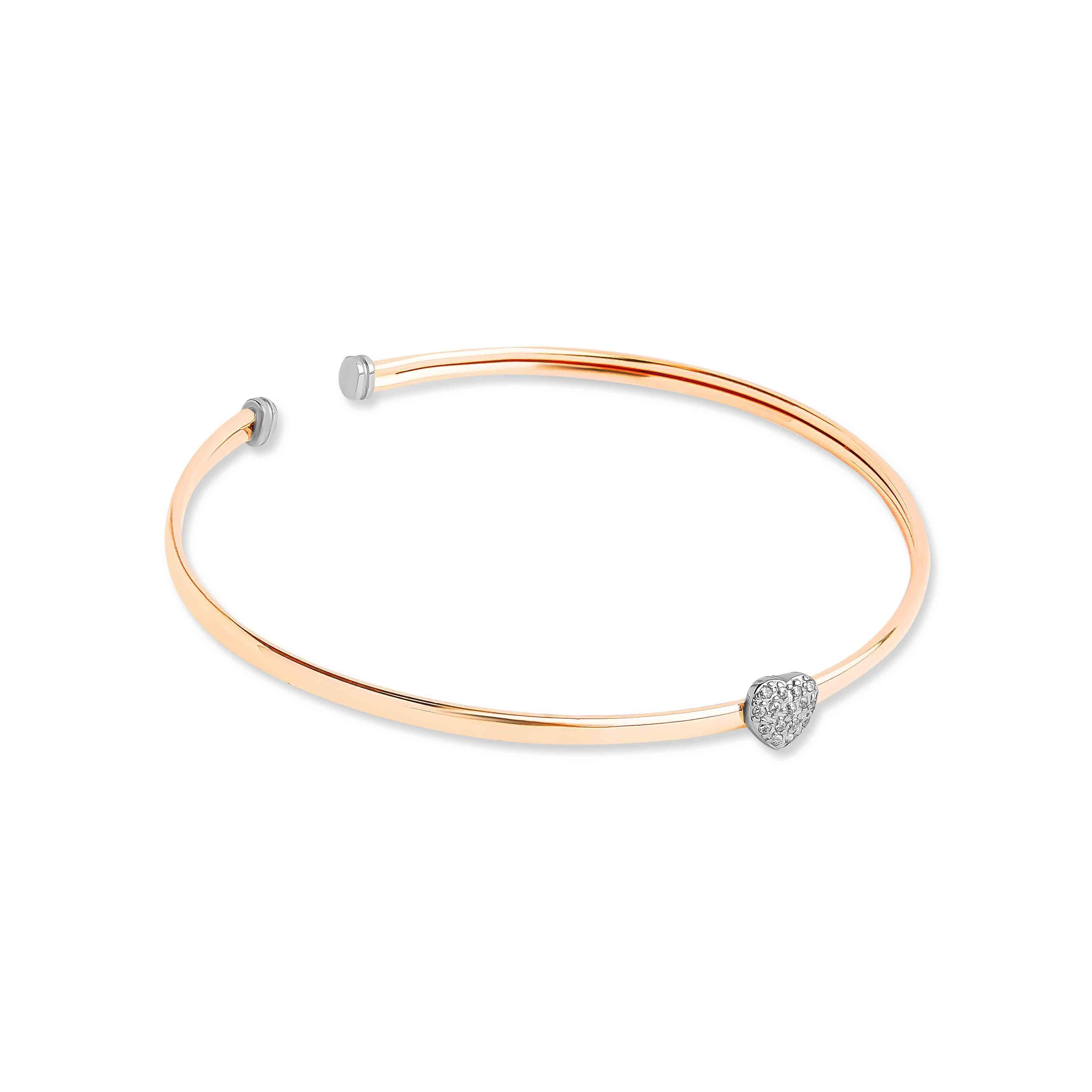 CZ  Rose Gold Bangle view 2