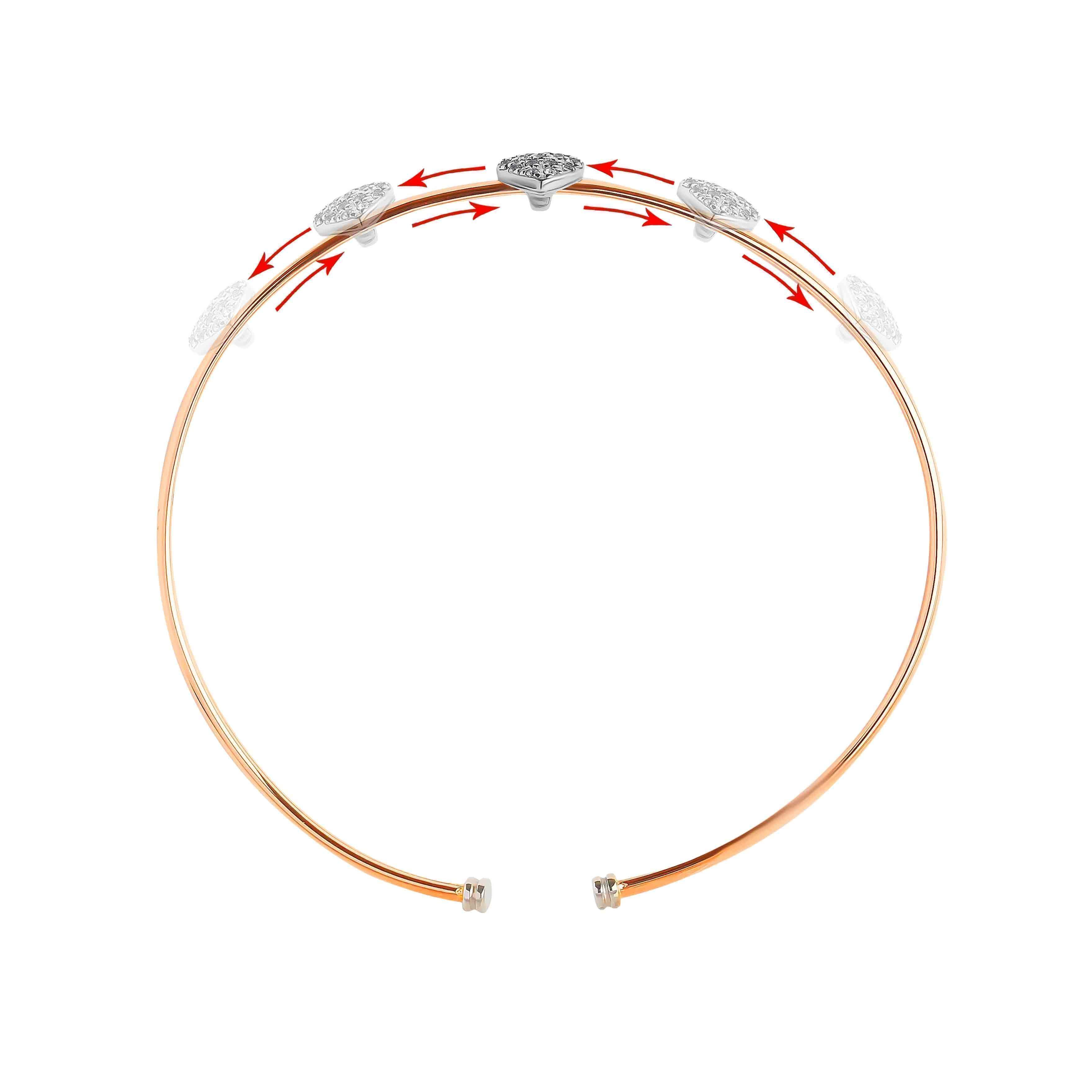 CZ Rose Gold Bangle view 3