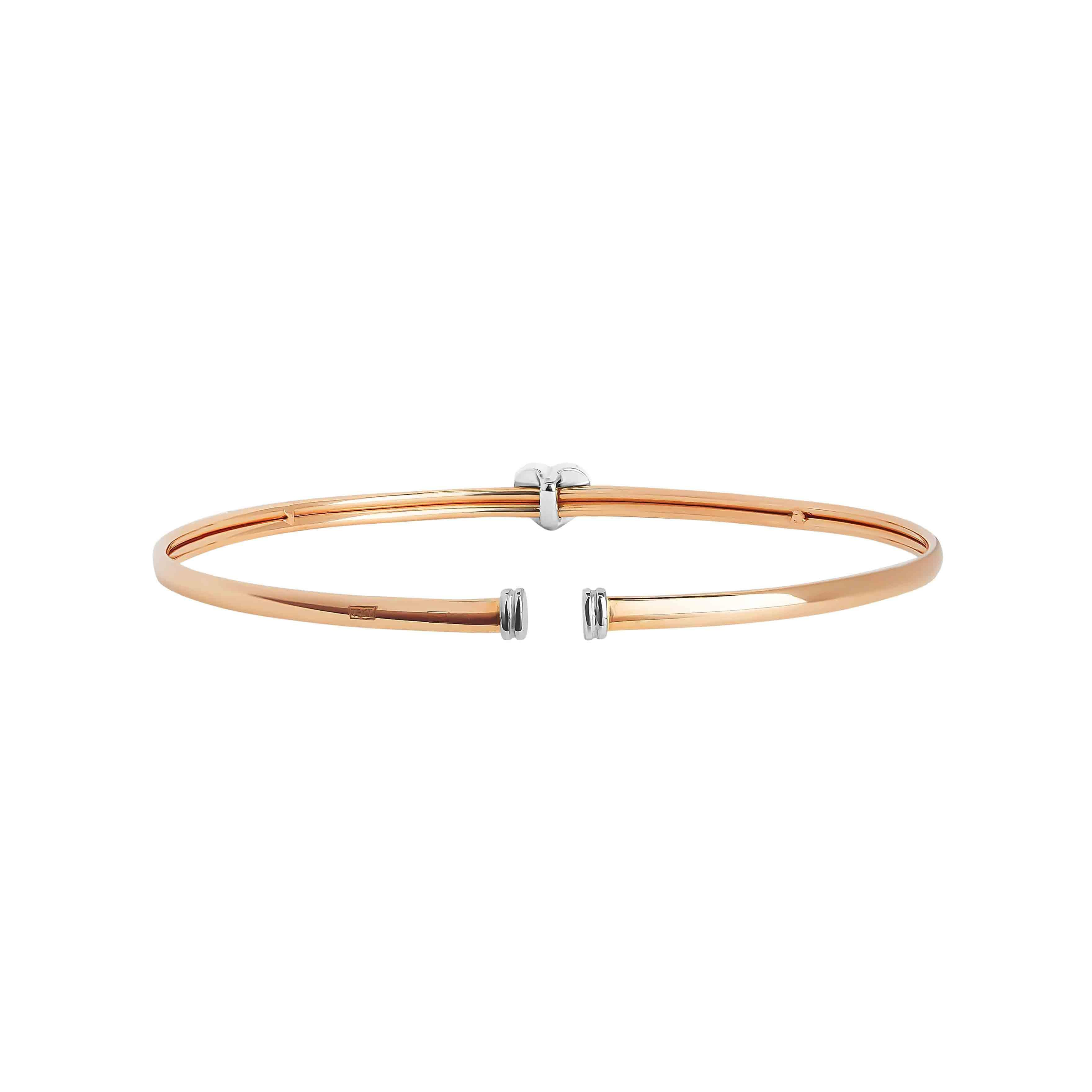 CZ Rose Gold Bangle view 5