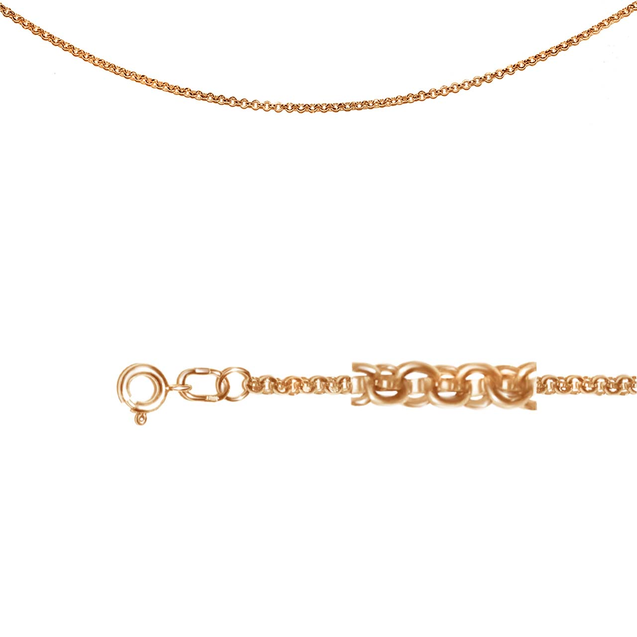 Rolo-Link Rose Gold Chain
