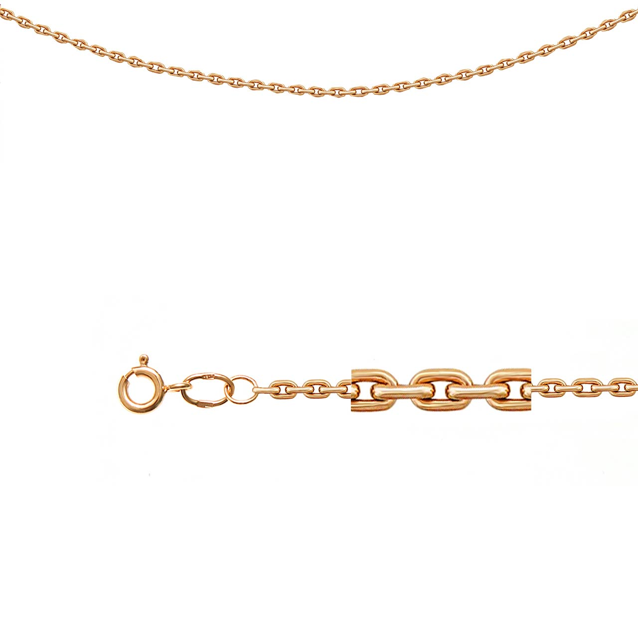 Cable-link gold chain 1