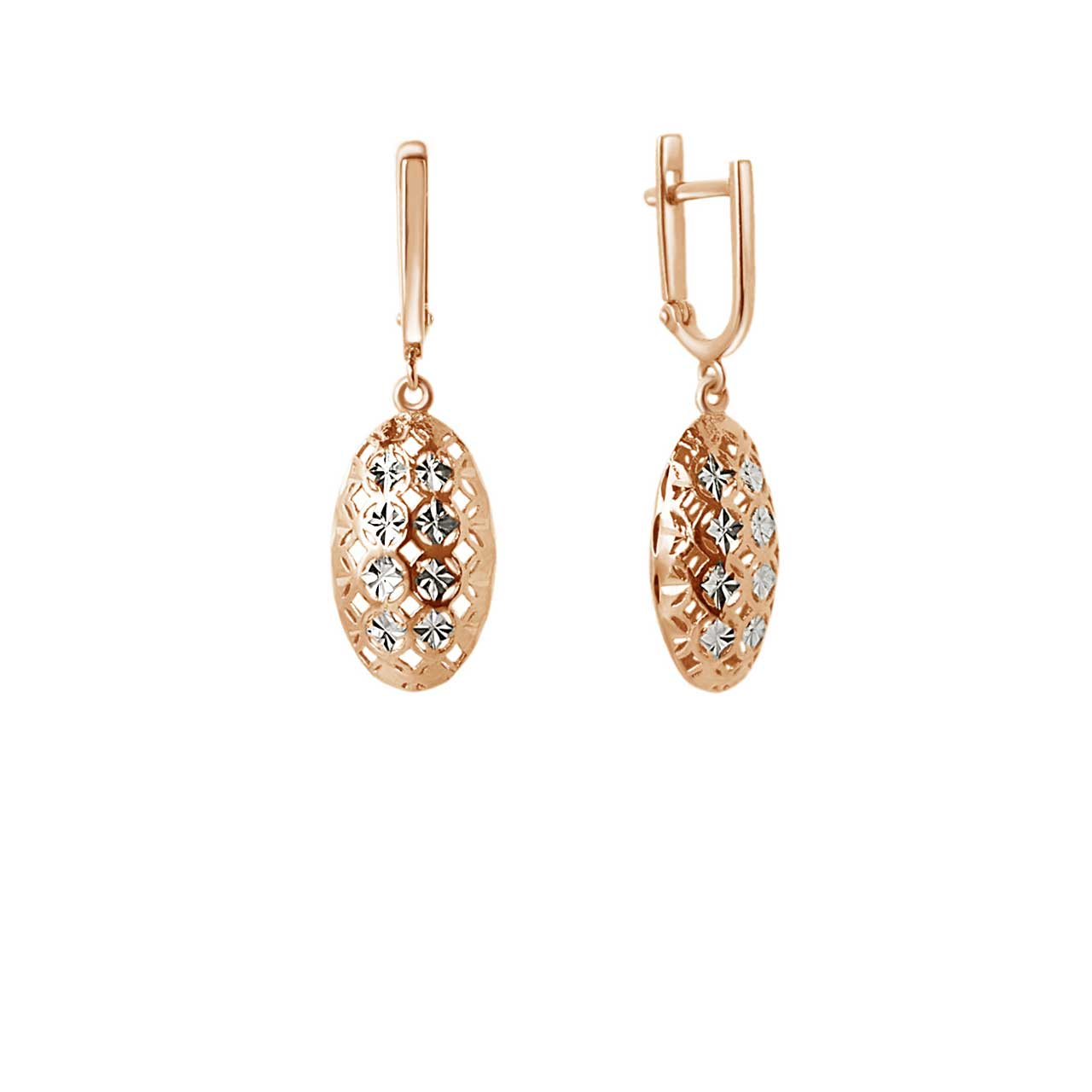 Rose gold drop earrings 1