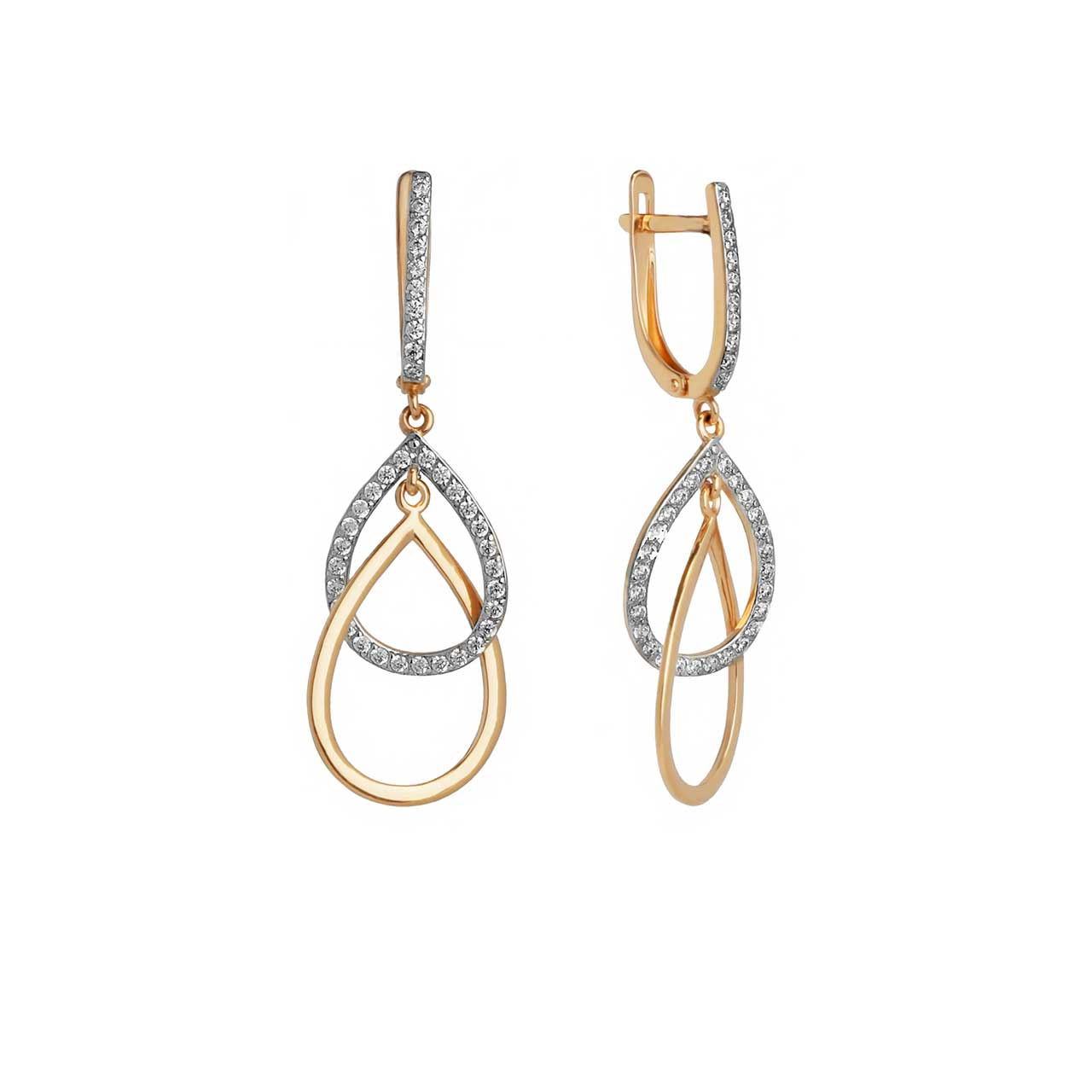 Rose gold teardrop earrings 1