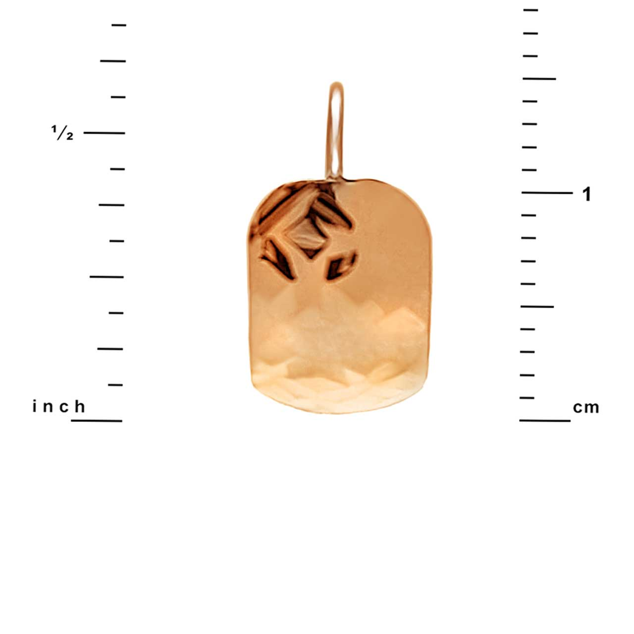 Size of Hammered Rose Gold Earrings